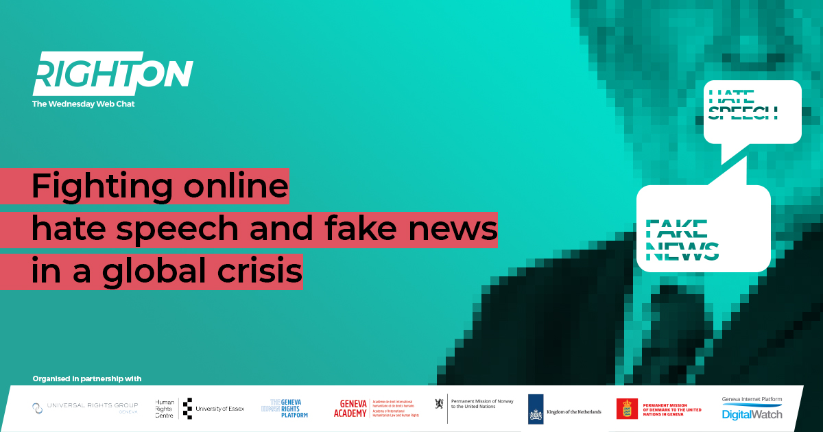 Fighting online hate speech and fake news in a global crisis